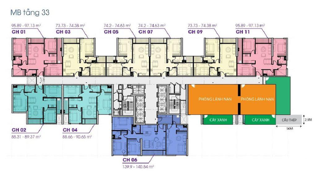 Mtawj bằng tầng 33 tòa V3 Terra An Hưng