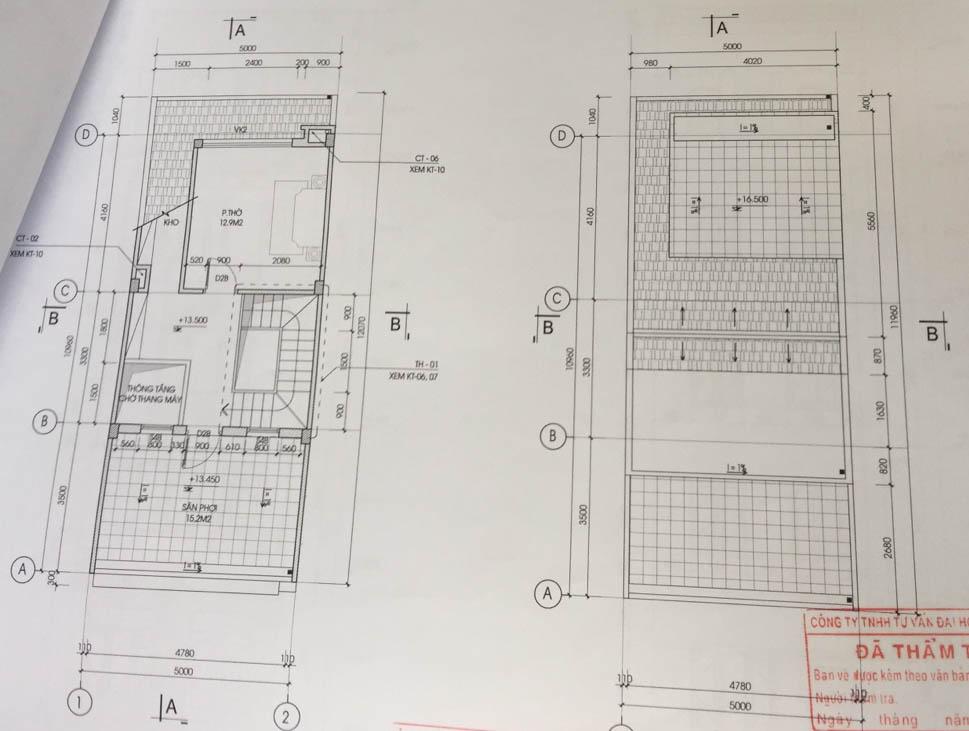 mặt bằng tum nhà liền kề c46 bộ công an định công