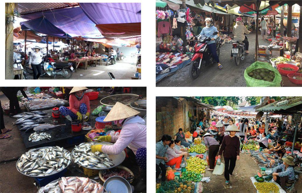 Chợ cổ làng quê việt nam