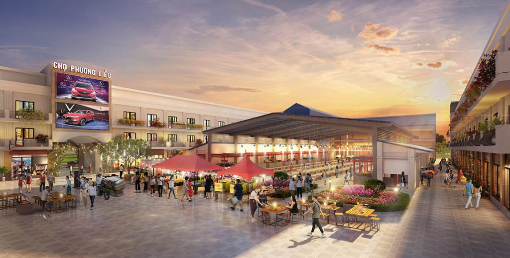 Khu vực trung tâm chợ Phương liễu